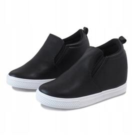 Czarne sneakersy na koturnie DD384-4 2