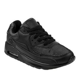 Czarne obuwie sportowe sneakersy B306A-61S 1