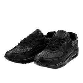 Czarne obuwie sportowe sneakersy B306A-61S 2