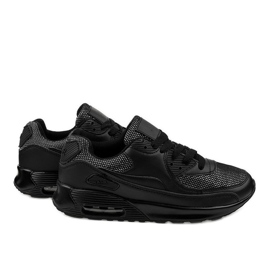 Czarne obuwie sportowe sneakersy B306A-61S 3