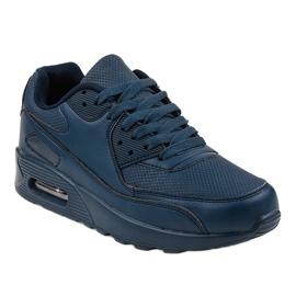 Granatowe obuwie sportowe A939-3 1