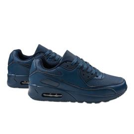 Granatowe obuwie sportowe A939-3 4