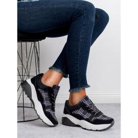 SHELOVET Czarne Sneakersy 6