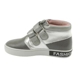 Mazurek Trzewiki szaro srebrne FashionLovers szare 2