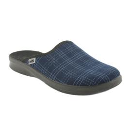 Befado obuwie męskie pu 548M010 granatowe niebieskie 1