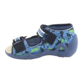 Befado żółte obuwie dziecięce 350P002 niebieskie zielone 3