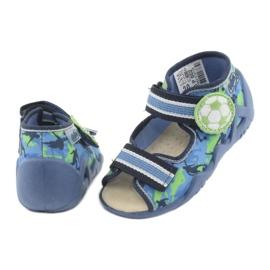 Befado żółte obuwie dziecięce 350P002 niebieskie zielone 5