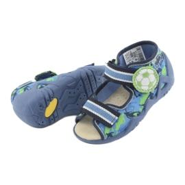 Befado żółte obuwie dziecięce 350P002 niebieskie zielone 6