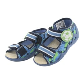 Befado żółte obuwie dziecięce 350P002 niebieskie zielone 4