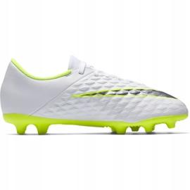 Buty piłkarskie Nike Hypervenom Phantom 3Club Fg Jr AJ4146-107 białe 1