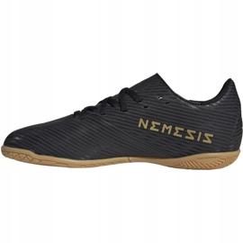 Buty piłkarskie adidas Nemeziz 19.4 In Jr EG3314 czarny czarne 2