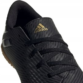 Buty piłkarskie adidas Nemeziz 19.4 In Jr EG3314 czarny czarne 3