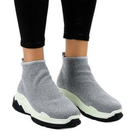 Szare obuwie sportowe z gumką LA33P 1