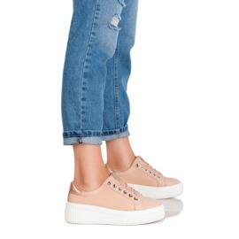 Kylie Buty Sportowe Na Platformie brązowe 2