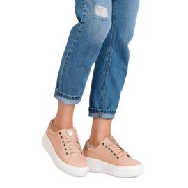 Kylie Buty Sportowe Na Platformie brązowe 3