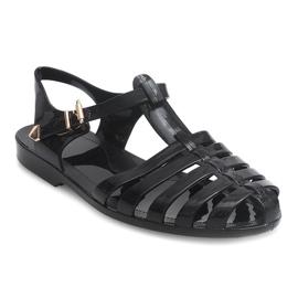 Sandały Rzymianki Meliski PT36 Czarny czarne 2