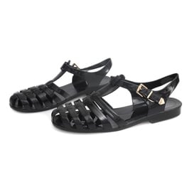 Sandały Rzymianki Meliski PT36 Czarny czarne 1