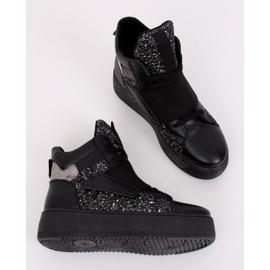 Trampki sneakersy czarne LA56 Black 4
