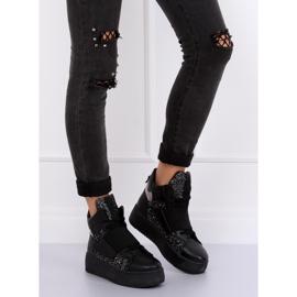 Trampki sneakersy czarne LA56 Black 1