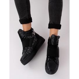 Trampki sneakersy czarne LA56 Black 2