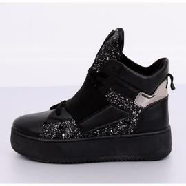 Trampki sneakersy czarne LA56 Black 3