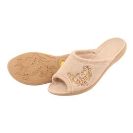 Befado obuwie damskie pu 256D013 beżowy 4