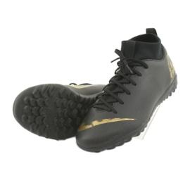 Buty piłkarskie Nike Mercurial SuperflyX 6 Academy Gs Tf Jr AH7344-077 czarne 4