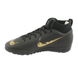 Buty piłkarskie Nike Mercurial SuperflyX 6 Academy Gs Tf Jr AH7344-077 czarne 2