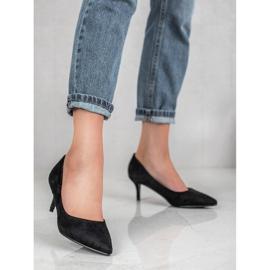 Ideal Shoes Wygodne Czółenka Na Szpilce czarne 2