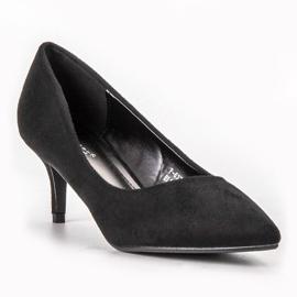Ideal Shoes Wygodne Czółenka Na Szpilce czarne 3