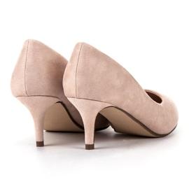 Ideal Shoes Wygodne Czółenka Na Szpilce brązowe 1
