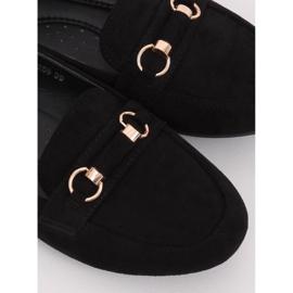 Mokasyny damskie czarne 99-259 Black 1