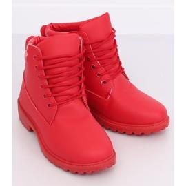 Timberki damskie czerwone W-3033 Red 4