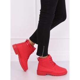 Timberki damskie czerwone W-3033 Red 1