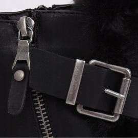 Botki z futerkiem czarne 1061A-PA Black 4