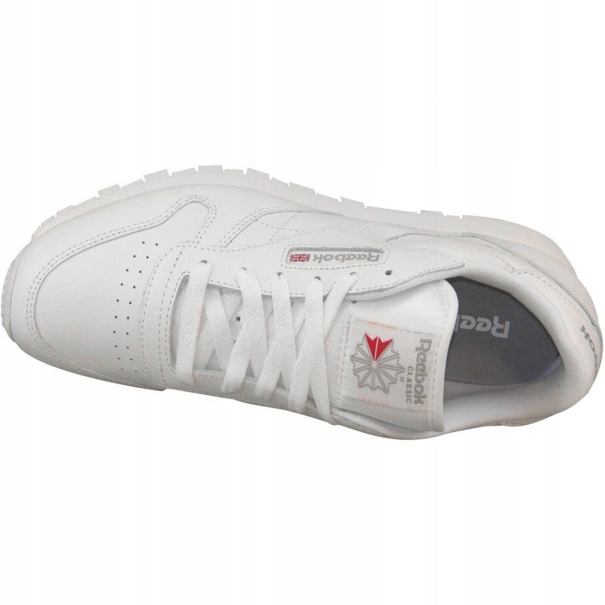 Buty Reebok Classic Leather W 2232 białe ButyModne.pl