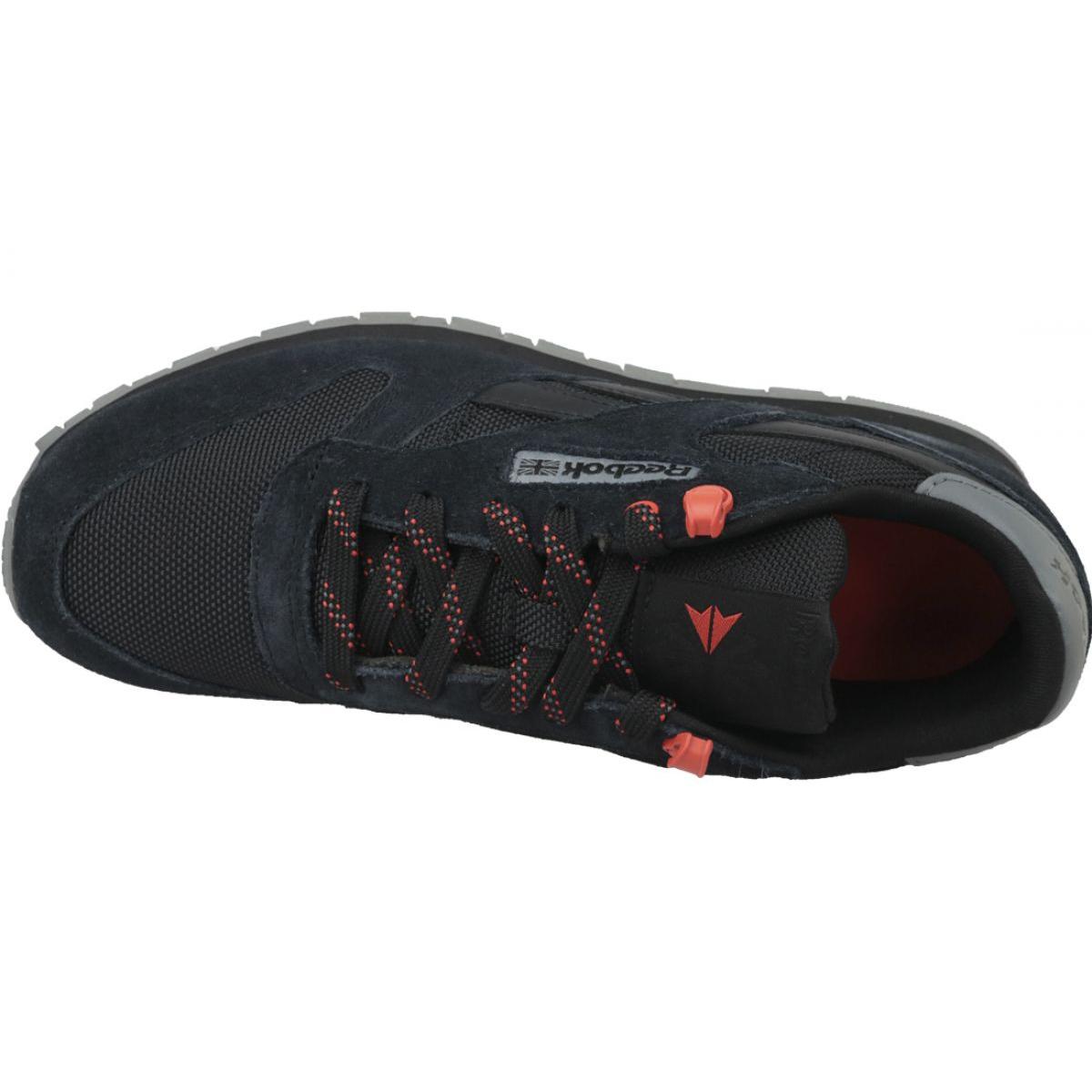 Buty Reebok Classic Leather Jr CN4705 czarne ButyModne.pl