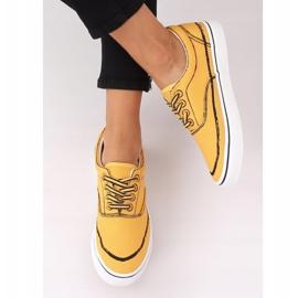 Trampki damskie żółte BS103 Yellow 2
