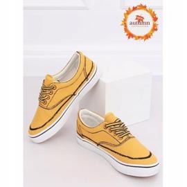 Trampki damskie żółte BS103 Yellow 1