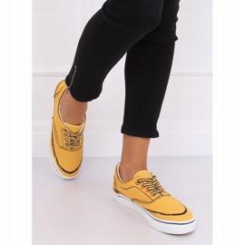 Trampki damskie żółte BS103 Yellow 4