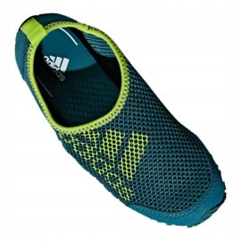 Buty do wody adidas Kurobe K Jr CM7644 zielone niebieskie 5