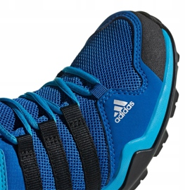 Buty adidas Terrex AX2R Mid Cp Jr BC0673 niebieskie wielokolorowe 2