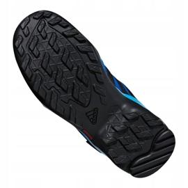 Buty adidas Terrex AX2R Mid Cp Jr BC0673 niebieskie wielokolorowe 4