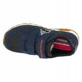 Buty Skechers Throwbax Jr 97360-NVBK granatowe 2