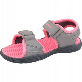 Sandały New Balance Jr K2004PKG szare różowe 1