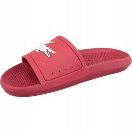 Klapki Lacoste Croco Slide 119 1 M 737CMA001817K czerwone 1