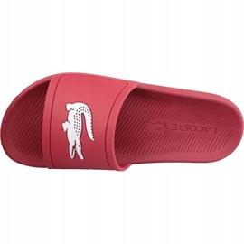 Klapki Lacoste Croco Slide 119 1 M 737CMA001817K czerwone 2