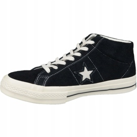 Buty Converse One Star Ox Mid Vintage Suede M 157701C czarne 1