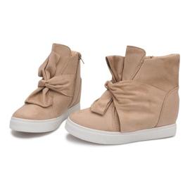 Sneakersy Na Koturnie 1787 Beżowy 1