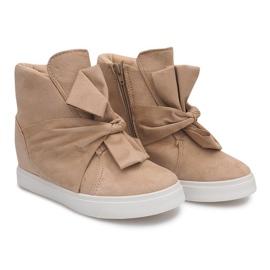 Sneakersy Na Koturnie 1787 Beżowy 3